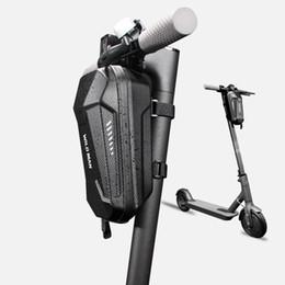auto reflektierende streifen Rabatt Neue Elektroroller Fahrrad EVA Hartschale Lenkertaschen Faltradtasche mit silbergrau reflektierenden Streifen Balance Auto Vordertasche