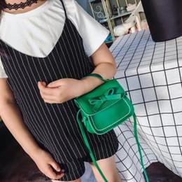 Bello raccoglitore sveglio della ragazza online-Cute Girl Bow Borsa a tracolla Bambino PU Crossbody Borse Lovely Flap Handbag Portafoglio dolce LLA152