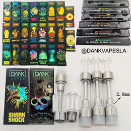 Dank Vapes Cartridges Empty Vape Penne 510 Oil Cartridges 0.8ml Vape Punta Carts E Sigarette Vaporizzatore con Holographic Packaging Box cheap e cigarette screw tip da la punta della vite della sigaretta fornitori