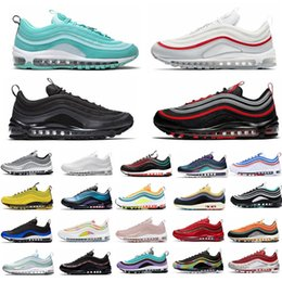 2021 sportschuhe runing Bred 97 Turnschuhe Schwarze Kugel 97s Realtree Weiß Evergreen Sunburst UNDEFEATED UNDFTD Olive Triple-Team Red Frauensport Runing Schuhe 36-45 rabatt sportschuhe runing