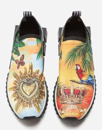 2019 Новый вязать Сорренто кроссовки резиновые микро подошва дышащая дизайнерская обувь унисекс Сорренто тренеры скольжения на бег Повседневная обувь 35-45 cheap knitted shoe sole от Поставщики трикотажная подошва для обуви