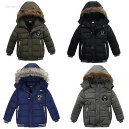Los niños camuflan el abrigo de invierno online-Baby boy espesar abrigo Ropa de algodón acolchado para niños Invierno cálido Moda niños outwear ropa niños camuflar ropa envío de la gota