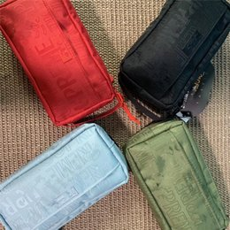 Bolsos monedero organizador online-Supre 19SS 46th Clutches Bag Brand Unisex Organizer Pouch Handbags Designer Coin Purse Wallet Luxury Women Cosmetic Bags Storage bag C82706