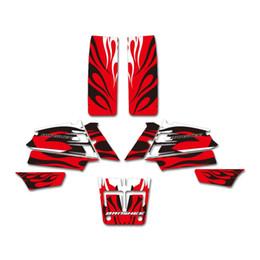 Canada Nouveau style rouge feu autocollants autocollants kits graphiques pour Yamaha YFZ350 BANSHEE 350 ATV 1987-2005 Offre