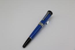 2019 mache einzigartige geschenke Deutschland-Marke Lucky Star-Serie Einzigartiges Design Roller Pen aus hochwertigem blauen Harz mit Silber-Besatz Büro Schulbedarf Geschenk Stift rabatt mache einzigartige geschenke