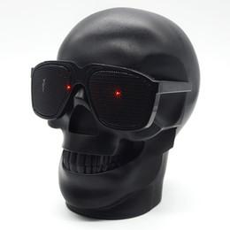 Estéreo bajo de Skull Head Portable Wireless Bluetooth Speakers para teléfono móvil / PC / Laptop / MP3 / MP4 Player Envío gratis negro desde fabricantes