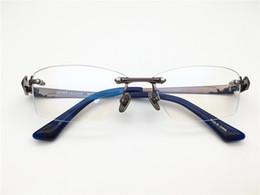 Colección de plata, diseño de alta calidad para hombres, sin montura, titanio, montura de gafas, anteojos de lente de diseñador, lentes de prescripción desde fabricantes