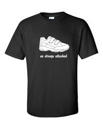 Нет строк прилагается Stringless тренажерный зал обуви фильм Музыка смешные мужская футболка 629 мужчины женщины мужская мода футболка Бесплатная доставка от