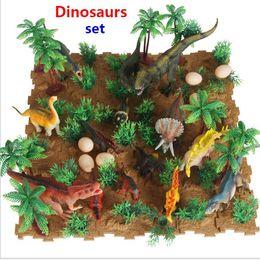 Новый Юрского Моделирования Динозавр Пластиковые Игрушки Модель Окарон Аллозавр Тираннозавр Рекс Цифры Сцены Игрушки Рождественский Подарок Для Детей от Поставщики деревянная игрушка для игрушек оптом