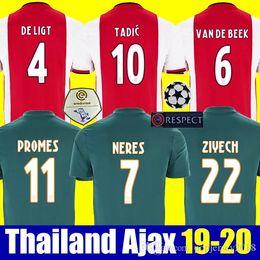 2019 treino de nova iorque Tailândia 2019 2020 de futebol AJAX jerseys DE JONG TADIC PROMES Van de Beek CRUYFF jerseys camisa kit 19 20 futebol ajaxa Msterdam camiseta