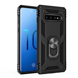 phone mate Coupons - Phone Case Hybrid Armor Kickstand Shockproof Case Silicone Bumper Cover For Samsung Note 10 S10 S10E S9 Plus A50 A70 Metal Ring Case