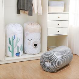 Vêtements anime vêtements en Ligne-Cartoon Quilt Storage Bags Clothing Drawstring Pouch Pillows Quilt Blanket Bedding Organizer Home Multi Function Closet Bag TTA1123