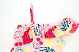 Bañador joven online-2019 niña de bebé y niños pequeños pieza de baño traje de baño de fruta de la cereza