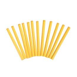 палочка 12шт. Профессиональные кератиновые палочки для наращивания человеческих волос. Желтый макияж. Кератиновый клей. от