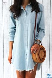 Pipa blusa online-Desgaste de la manga blusas de tuberías para mujer larga atractiva del dril de camisas ropa de calle Otoño Invierno Moda Mujer largo mujer de la ropa
