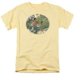 fiore m Sconti Wild Wings Wildlife Custom BLOSSOM TIME ROBINS Maglietta per adulti con licenza Tutte le taglie