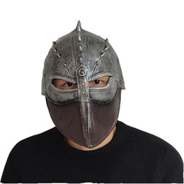 2019 mascara de entrenamiento para Cómo entrenar a tu dragón cosplay máscara del traje de armadura Partido Resina historieta del Anime Guerrero Máscaras de Halloween 10pcs LJJ_OA6461 mascara de entrenamiento para baratos