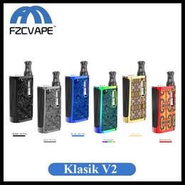Zigarettenpatronen online-Authentische Kangvape Klasik V2 Mod Kit 650mAh Vorheizen VV E Cig Vaporizer für dicke Ölpatrone 100% Original