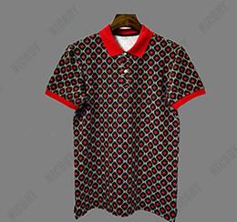 camisas de polo de europa Rebajas europa verano marca de diseño camiseta para hombre de impresión de color estrella de apertura de cama cuello de polo verde rojo camiseta camiseta casual arriba camiseta