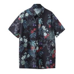 Feitong Mens Baskılı Plaj Gömlek Hawaii Gömlek Erkek Rahat camisa masculina Kısa Kollu Yaz erkek giyim 2019 nereden hawaii kıyı kıyafetleri tedarikçiler