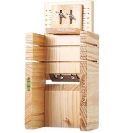 Мыльные материалы онлайн-Прибор сосны коробки резца мыла домочадца деревянный материальный балансируя точный