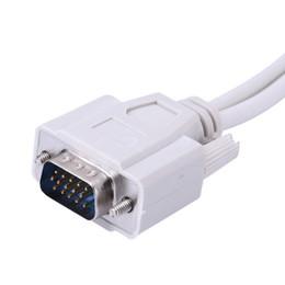 cable hdmi macho hembra Rebajas El plomo de 15 pines VGA macho a la hembra 2 Y splitter de cable de extensión para monitor SVGA adaptador convertidor de cable de vídeo para PC TV que envía libremente