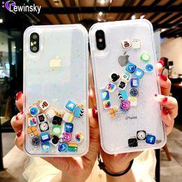 Чехол iphone X, чехол Quicksand Capinha для iPhone 7 7Plus 8 8Plus 6s Plus Динамический жидкий жесткий чехол для ПК для X XR XS Max App Capa ipone от