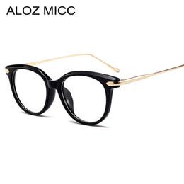 5d37f4076 ALOZ MICC Mulheres Óculos de Armação Acetato Olho de Gato de Alta Qualidade  Moda Feminina Elegante Óculos Femininos Prescrição Óptica Óculos A122