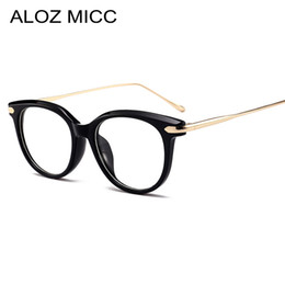 016a202042 ALOZ MICC Women Eyeglasses Frame Acetate Cat-Eye High Quality Fashion Woman  Stylish Female Glasses Optical Prescription Eyewear A122