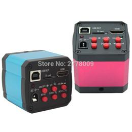 Carte mère vidéo en Ligne-Livraison gratuite 14MP HDMI USB Numérique Industrie Vidéo Microscope Caméra Lentille Carte TF Enregistreur Vidéo Ordinateur Téléphone Carte Mère Réparation Tests