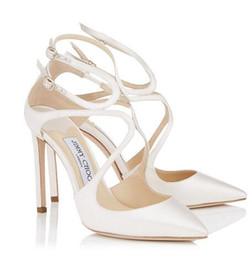 2019 robes d'été euro Été Lancer Sexy Stiletto talons hauts pour les femmes sandales gladiateur dames de luxe design robe habiller fête de mariage avec boîte euro 34-42 cadeau parfait robes d'été euro pas cher