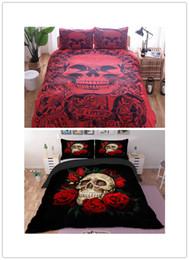 Drop Shipping 3D-Druck Sugar Skull Bettbezug Skull Bedding Set mit Kissenbezügen von Fabrikanten