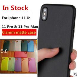 Stock pp online-0.3mm Custodia ultra sottile sottile opaca satinata per telefono in PP Cover trasparente trasparente per iPhone 11 Pro Max X XS XR 8 7 6 6S plus IN stock