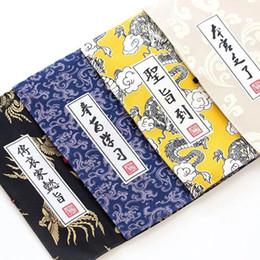 bolsa china china Rebajas 1 unid 4 colores palacio chino estilo imperial edicto lienzo caja de lápices caja de lápices bolsa de lápices papelería de almacenamiento útiles escolares regalo de los niños