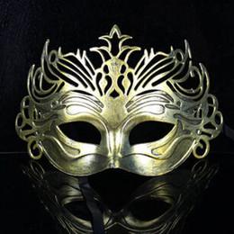 trajes romanos antigos Desconto Vintage Antigo Coroa de Gladiador Romano Mask Máscara Mardi Gras Masquerade Halloween Máscaras Do Partido Do Traje Venetian Máscara de Prata de Ouro