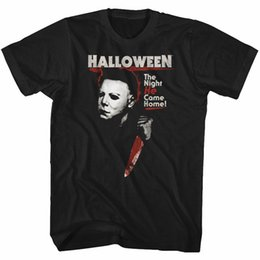 Magliette di film di halloween online-Halloween Michael Myers The Night He Came Home Maglietta per adulti Great Scary Movie Divertente spedizione gratuita Unisex Casual Tshirt