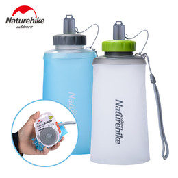 Naturehike 500-750ml Taza de agua de silicona Botella de agua para deporte al aire libre Plegable portátil Ciclismo Bolsa de agua de escalada NH61A065-B desde fabricantes
