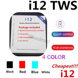 i12 tws bluetooth 5.0 беспроводные наушники bluetooth наушники красочные сенсорное управление беспроводная гарнитура JL чип наушники с зарядным устройством от