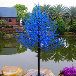 Luzes artificiais ao ar livre das árvores on-line-Luz Árvore impermeável ao ar livre 1.5M Artificial Led Cherry Blossom Tree Lamp 480LEDs Natal para Home Festival Decoração