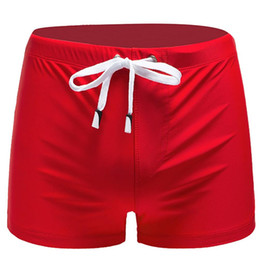 pantalones cortos hombre mar Rebajas 2019 Shorts de baño sexy para hombres Shorts de playa Boxer Swim Summer natación bañador sea surf bañador 40M28