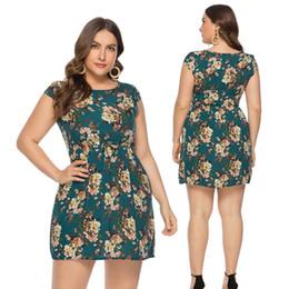 Argentina 2019 modelos de explosión verano nueva impresión falda gran tamaño pequeño vestido floral 8565 # Suministro