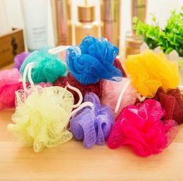 Банные губки онлайн-Multi Colours 8 г / 15 г / 20 г Ванна Душевые щетки для ванны Сетка для душа Сетка для ванны и душа Губка для очистки тела мяч CCB3