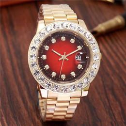 Argentina Relogo de lujo para hombre Reloj de moda Vestido Diseñador Calendario Pulsera de oro Dial Diamantes Broche plegable Maestro Hombre 45 MM Regalos Parejas Relojes Suministro