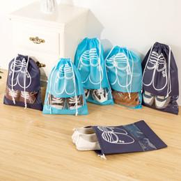Sacchetto di scarpe da imballaggio del drawstring online-Borsa da viaggio per scarpe Borsa da viaggio per bagagli Organizer per borse da viaggio Borsa da viaggio impermeabile Non-Woven Pouch Armadio Home Storage