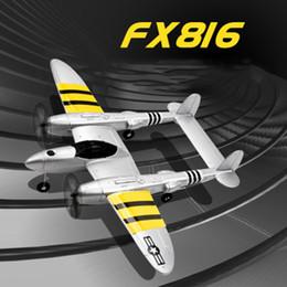 Aviões de brinquedo crianças on-line-P38 2.4G RC Anjo Aircraft relâmpago Glider Fixa Asas Epp Modelo clássico do lutador Avião Crianças Toy Crianças LA271