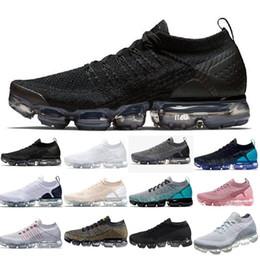 cheap for discount 8e710 d779a Nike air vapormax air max airmax flyknit 2.0 1.0 shoes New Air BE TRUE Oro  Nero Rosa Donna Uomo Designer Scarpe da corsa Sneakers EUR Taglia 36-45