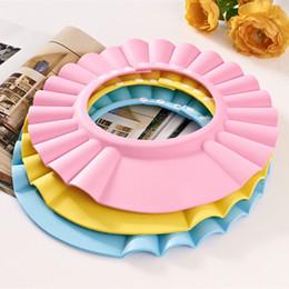 Chapéus de banho para bebês on-line-Ajustável Bebê Criança Crianças Shampoo Bath Shower Cap Chapéu Wash Hair Shield