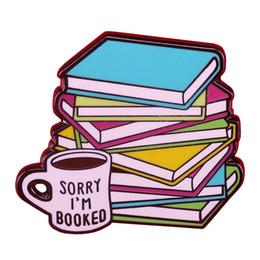 Libros de los amantes online-Bibliotecario Amantes de los libros Lo siento, reservé Forever Pin de solapa Gusanos de libro insignia regalo Esmalte pin