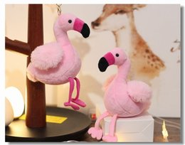 lindo llavero muñecas Rebajas Ins Doll Plush Llaveros Flamingo Cartoon Lovely Key Rings Adornos Cute Bag Adornos colgantes Llavero Girl Gift Boutique 3 1mb N1