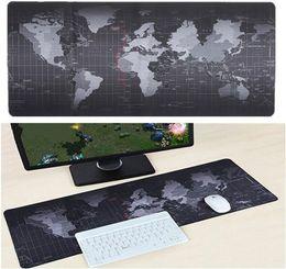 Mapa do mundo Gaming Mouse Pad Grande Mouse Pad Gamer Grande Mouse Pad Computador Mousepad Superfície de Borracha Teclado Mesa Mat com Borda de Travamento de Fornecedores de presentes sob